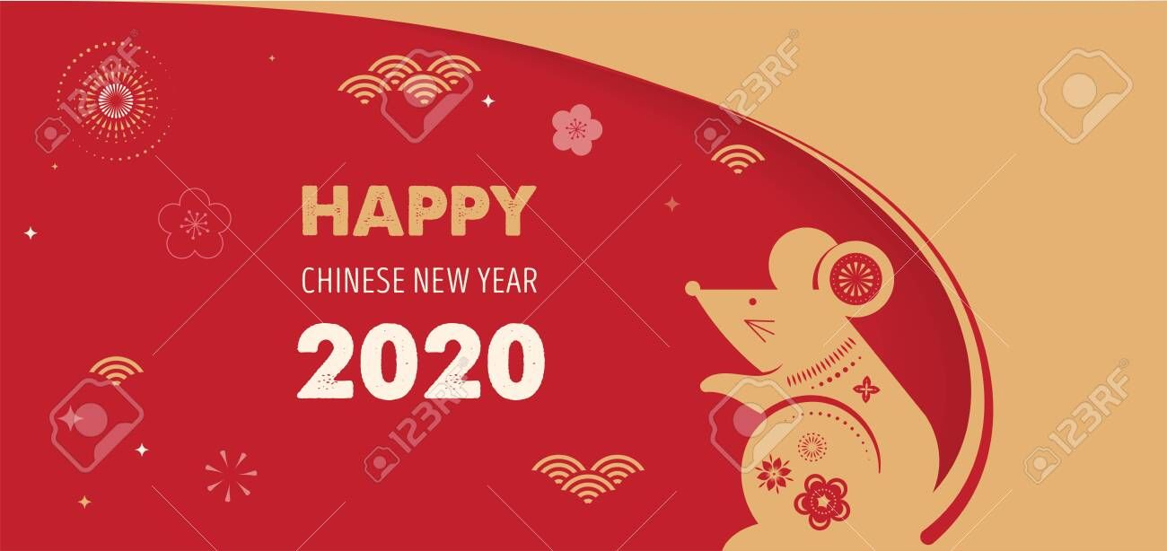 Happy Chinese New Year Design 2020 Rat Zodiac Cute Mouse Cartoon Japanese Korean Viet Happy Chinese New Year Chinese New Year 2020 Chinese New Year Design
