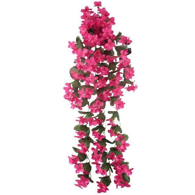 Artificial Silk Orchid Artificial Flower Garland Wall Hanging Plant For Wedding Party Home Garden Hanging Orchid Silk Orchids Artificial Flowers