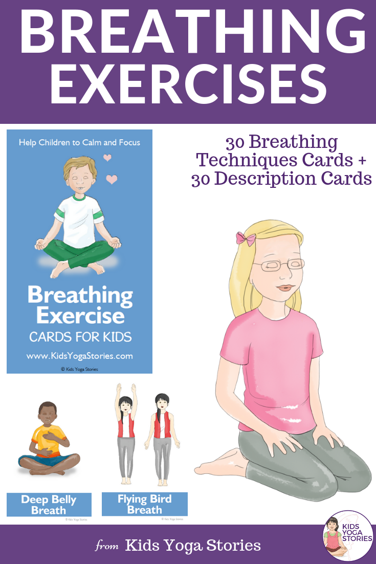 Breathing Exercise Cards For Kids Card Workout Yoga For Kids Breathing Exercises