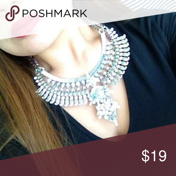 New Stunning Silver Statement Necklace Beautiful Authentic and quality Dallas Stylez  Jewelry Necklaces