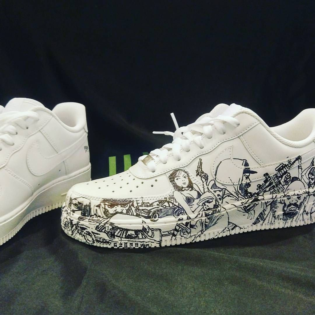 Private commission on a pair of Air Force I #nikeairforce1