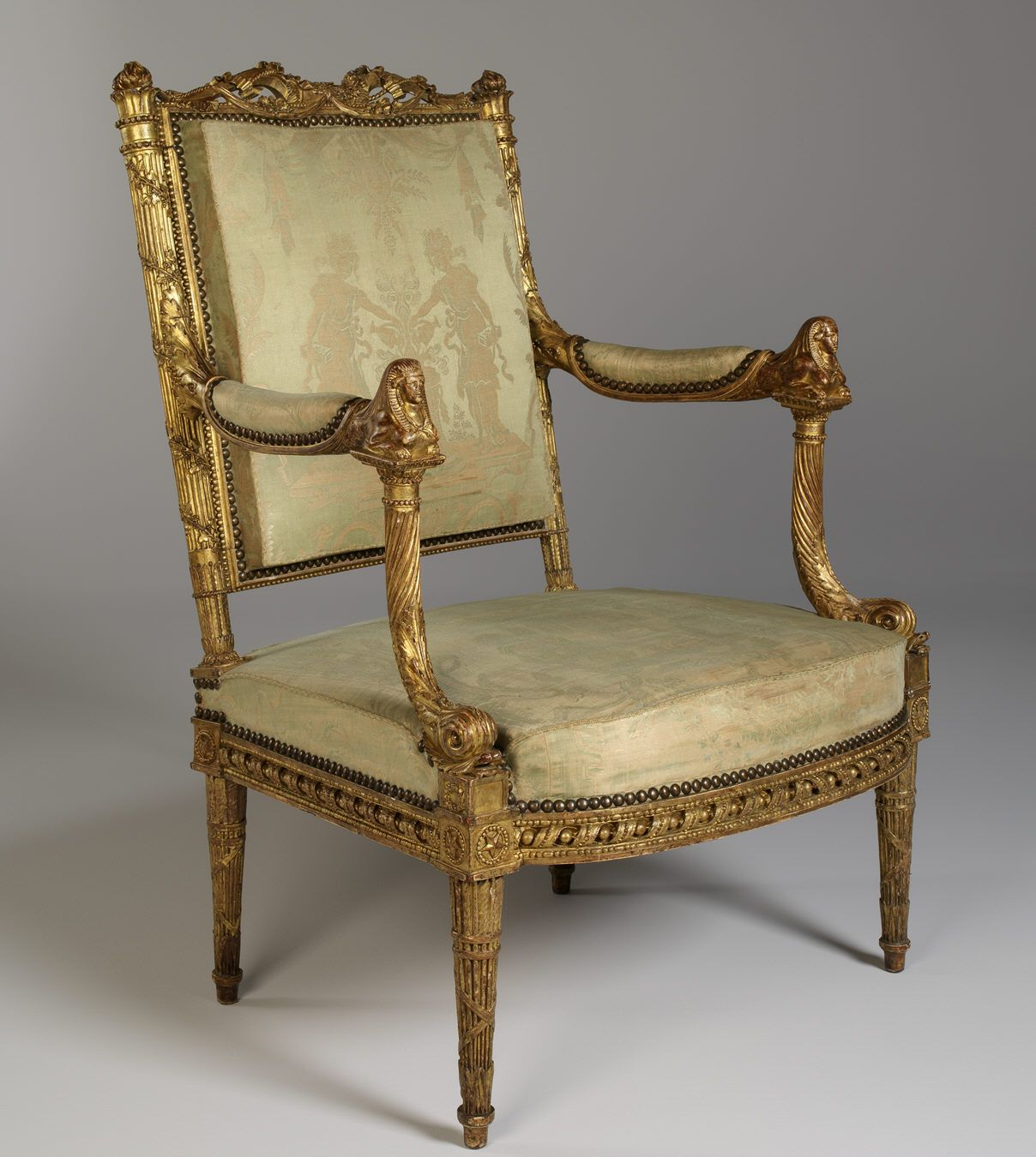 Museu Gulbenkian Fauteuil Louis Xvi Georges Jacob 1785 86  # Thomas Hope Muebles