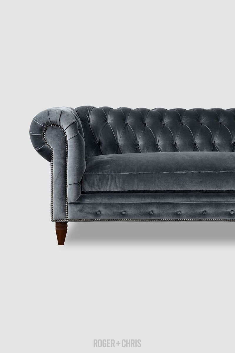 Grey Velvet So Rich Chesterfield Sofas Armchairs Sectionals