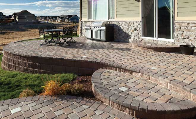 Pavestone Plaza Stone Multi Level Patio