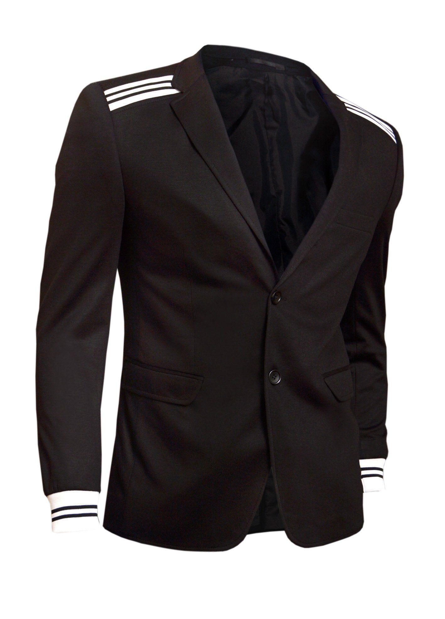 D&R Fashion Men's Welts Blazer Top Jacket Uk Size - Coat Black small