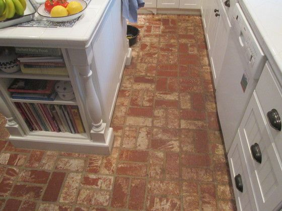 Merveilleux Brick Kitchen Floors, Brick Tile Floor, Brick Flooring, Thin Brick, Brick  Patterns, Travertine Tile, Sunroom Ideas, Exposed Brick, Backsplash Tile