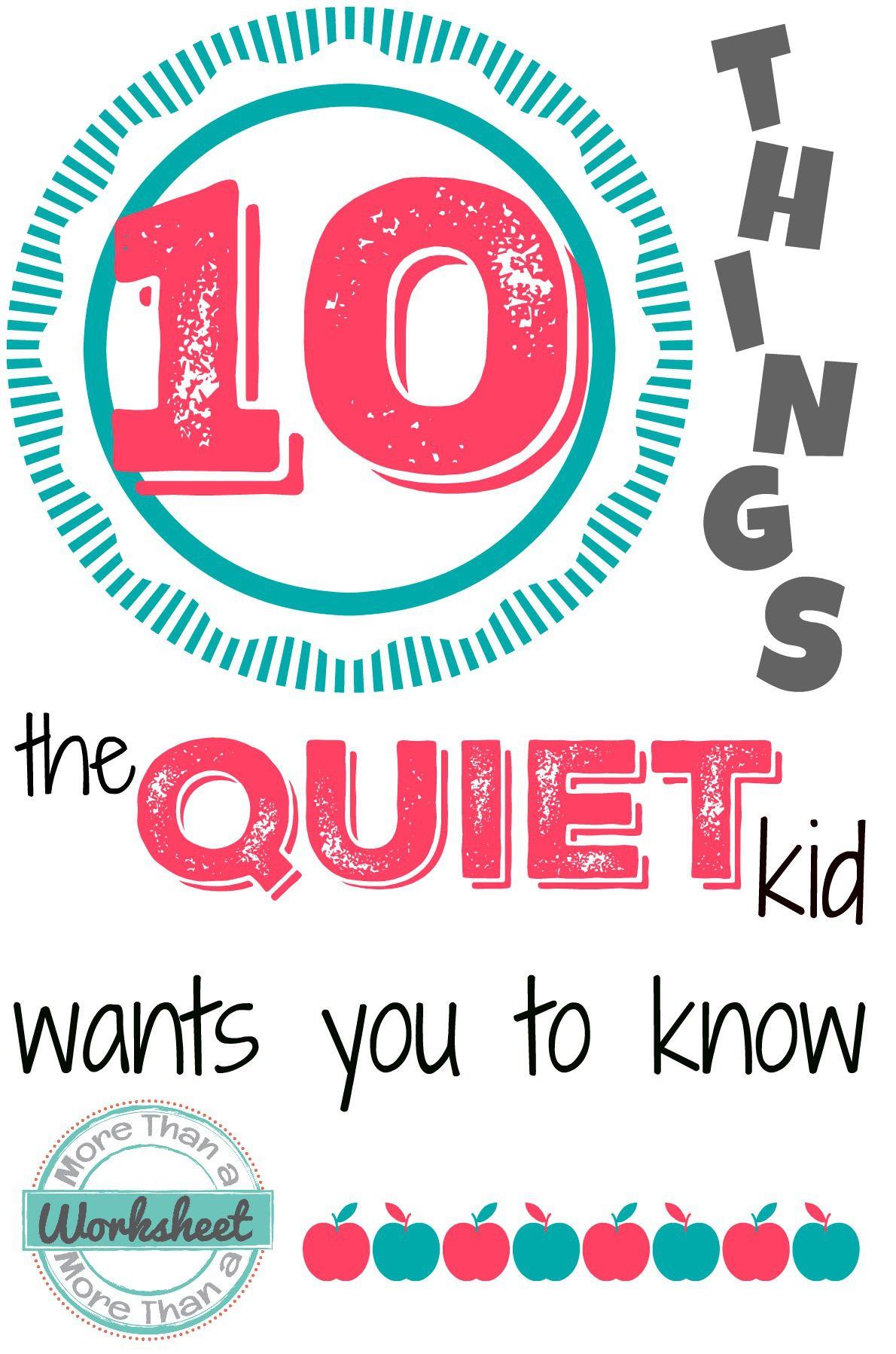 Teaching The Quiet Kid