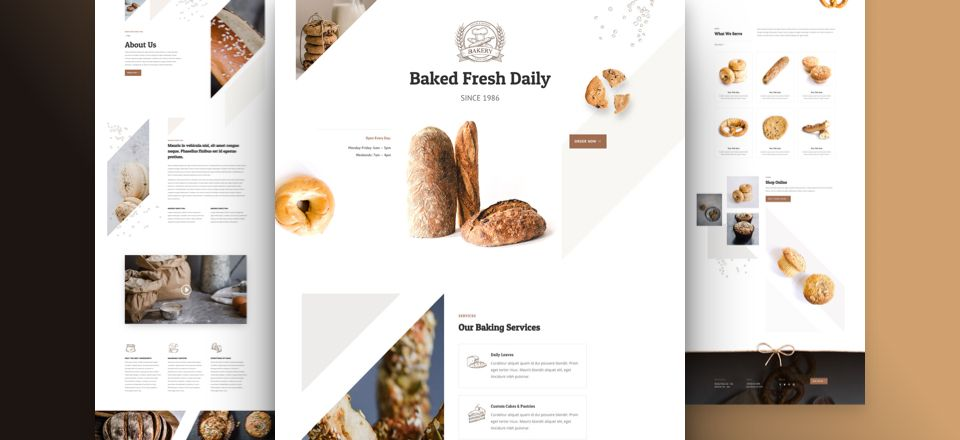Get A Free Bakery Layout Pack For Divi Bakery Website Free Website Templates Web Design Freebies