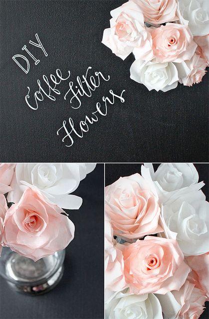 DIY Coffee Filter Flowers by justbellablog, via Flickr