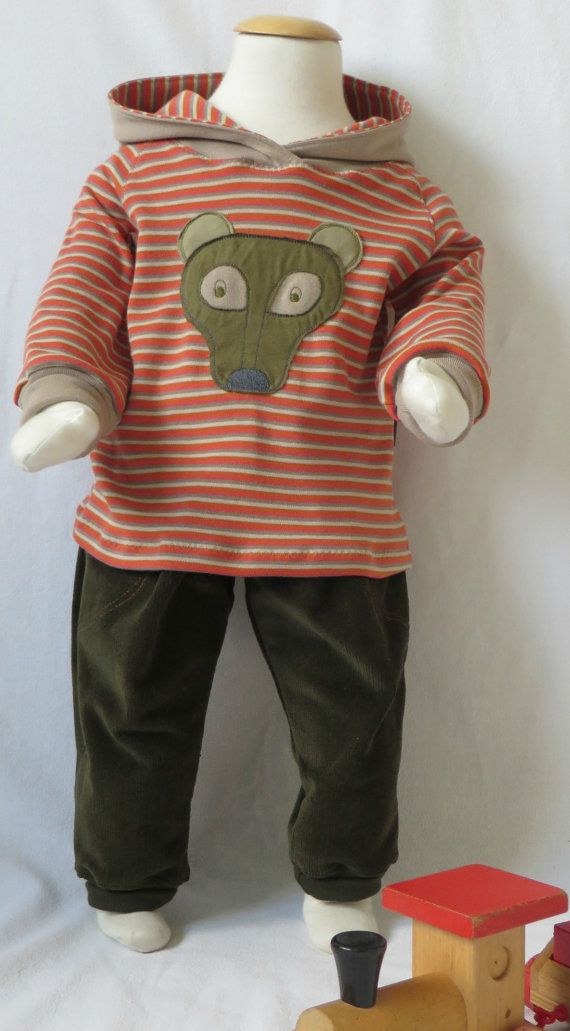 Babykleding 80.Baby Boy Pants With Hooded Longsleeve Size 9 12m Baby Boy Corduroy
