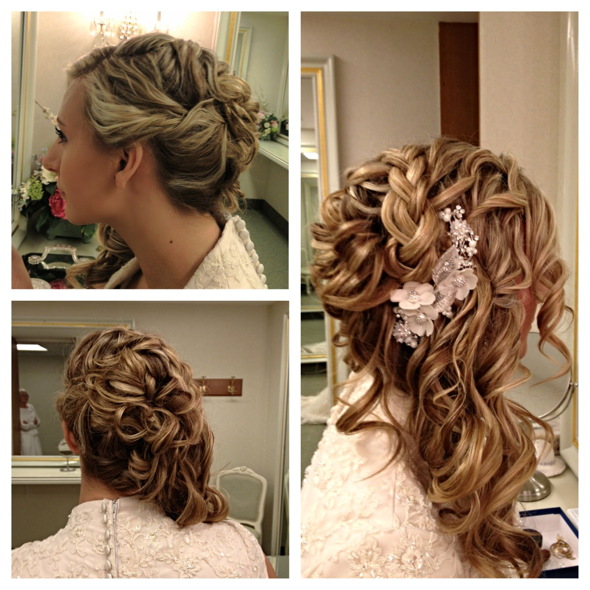 my wedding hairdo!!! side-swept wedding hair style that is