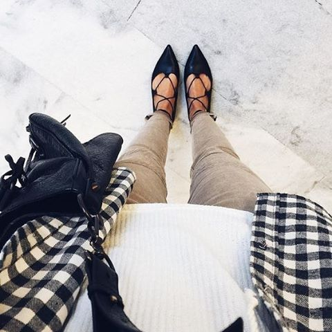 Laced-up style. #ootd : @meg_legs // Follow @ShopStyle on Instagram to shop this look