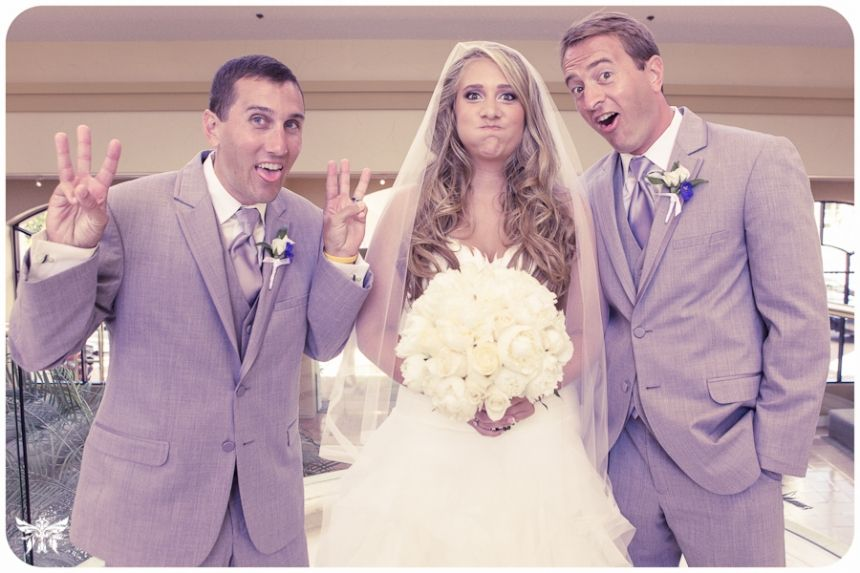 Silly pic of the bride with her brothers. Jamie + Jamie Wedding Photos » FlyFeNniX Weddings