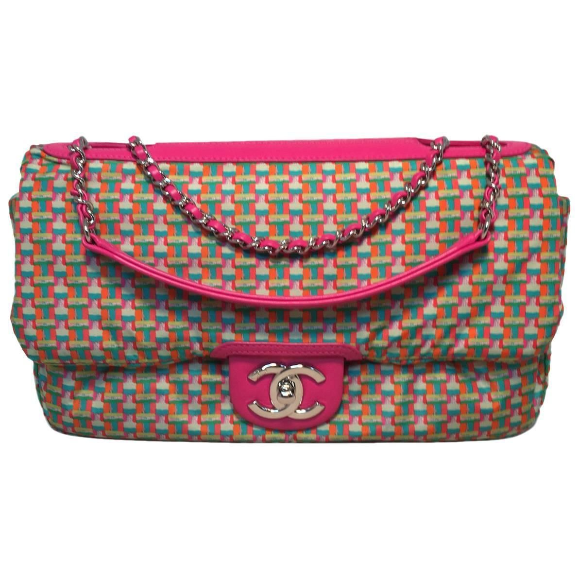 c2d5360a0e4c Chanel Pink Rubber Raincoat Classic Flap Shoulder Bag