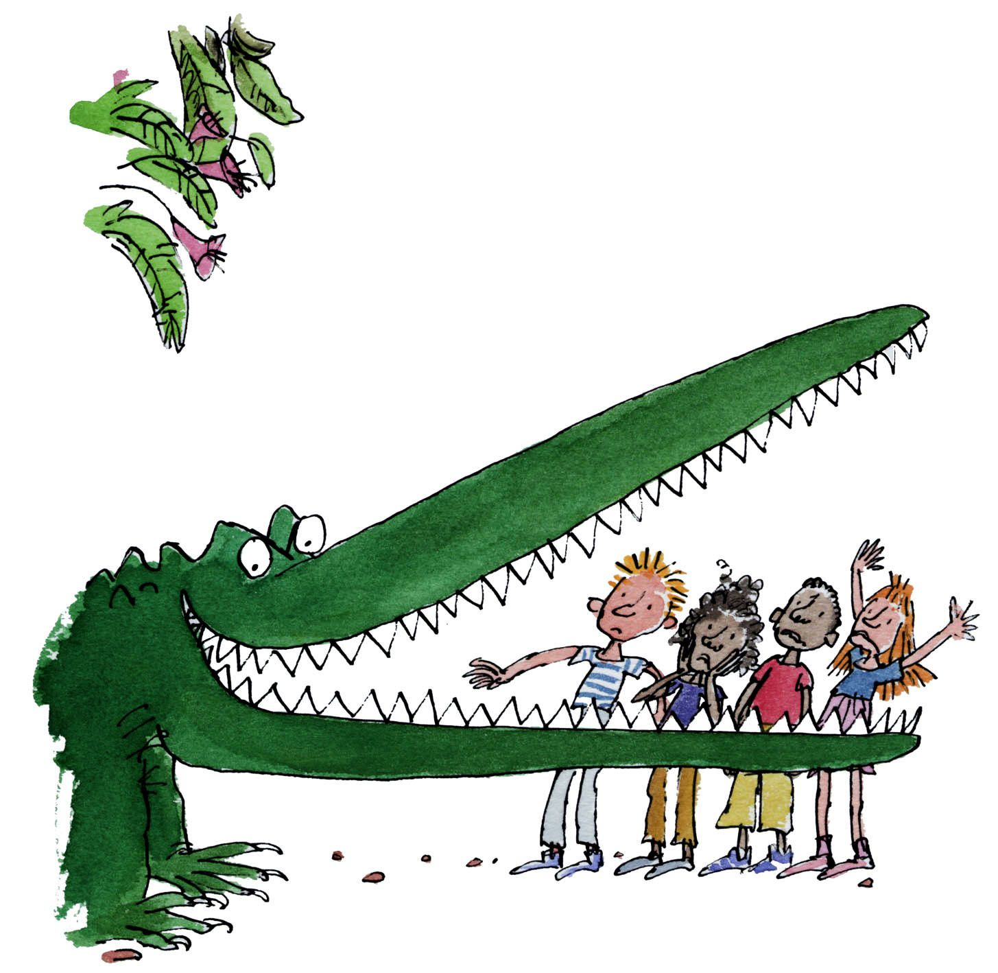 Illustration By Quentin Blake For The Enormous Crocodile