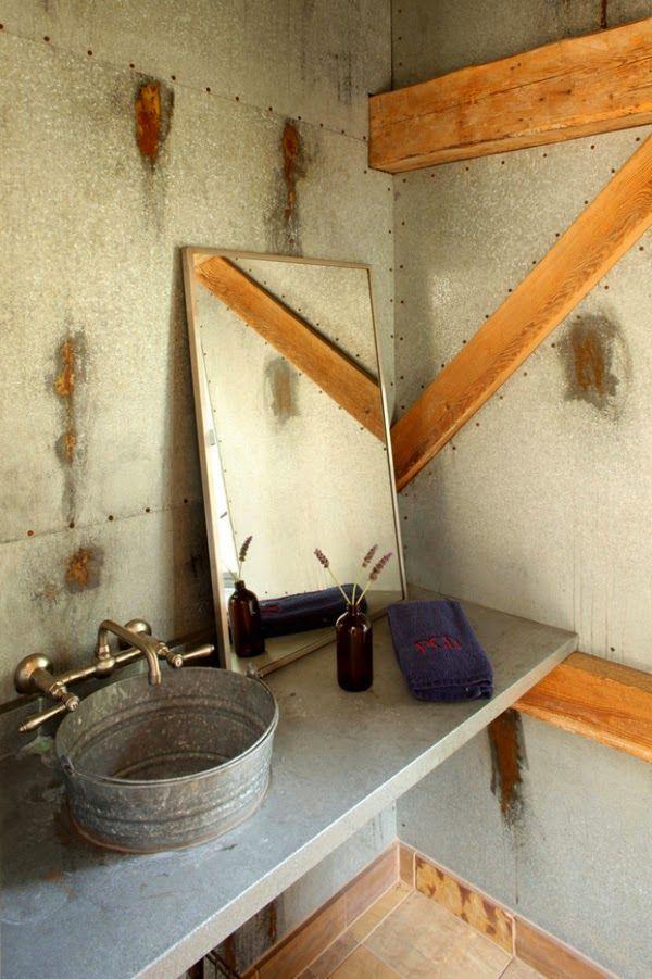 30 ideas de decoración para baños rústicos pequeños House