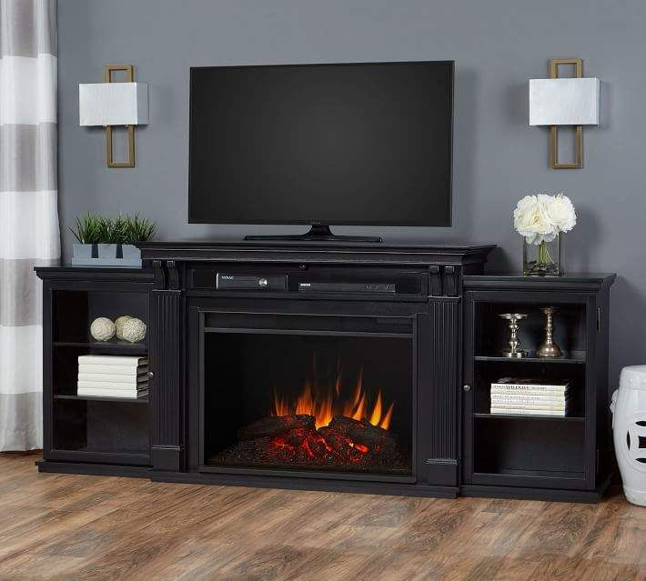 Real Flame Tracey Grand Electric Fireplace Media Cabinet In 2020
