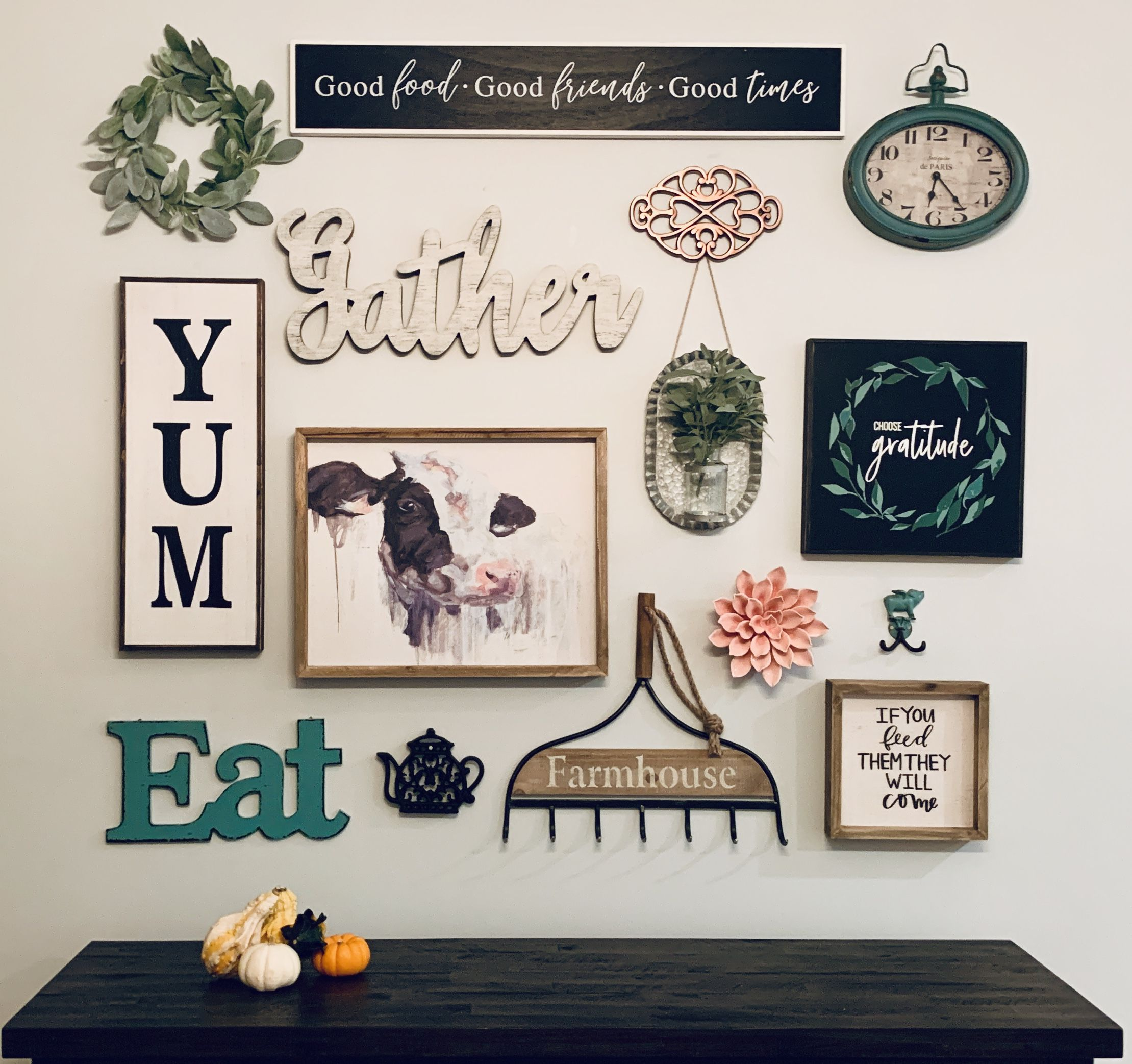 Farmhouse Kitchen Gallery Wall Hobby Lobby Target And Michaels