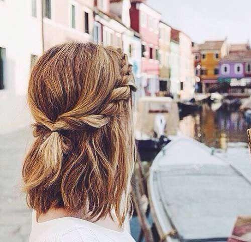 25 Nette Und Einfache Frisuren Fur Kurzes Haar Netteundeinfachefrisurenfurdieschulefurkurzeshaar Geflochtene Frisuren Frisuren Frisur Hochgesteckt