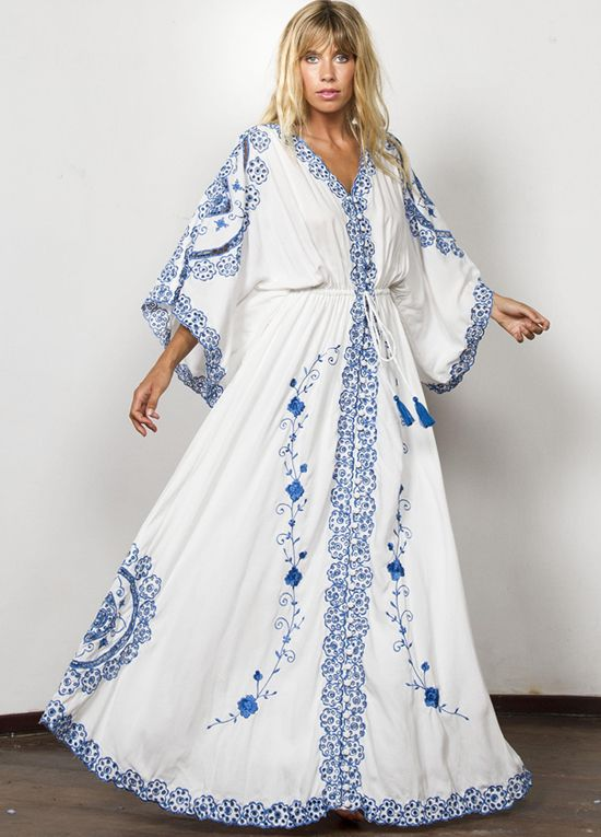 46aa80166c Queen Bee Cleo Embroidered Maternity Maxi Dress Duster by Fillyboo