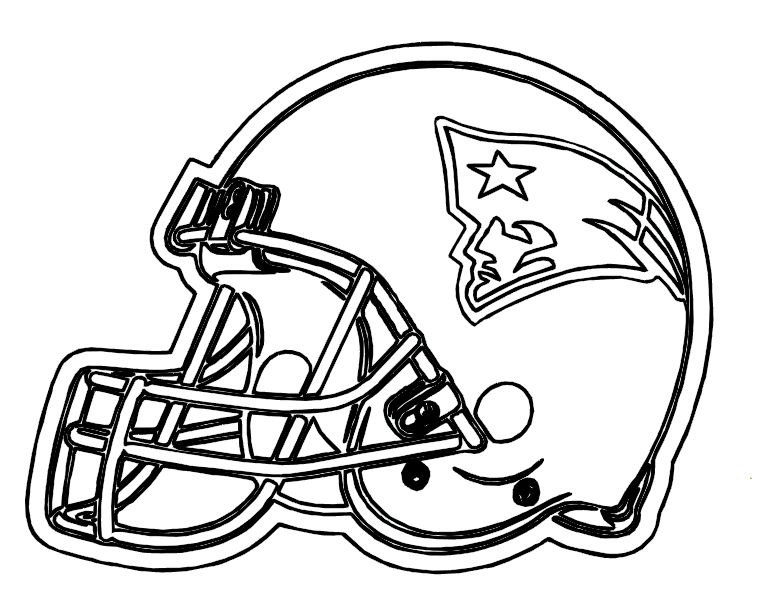 Football Helmet Patriots New England Coloring Pages | Templates ...