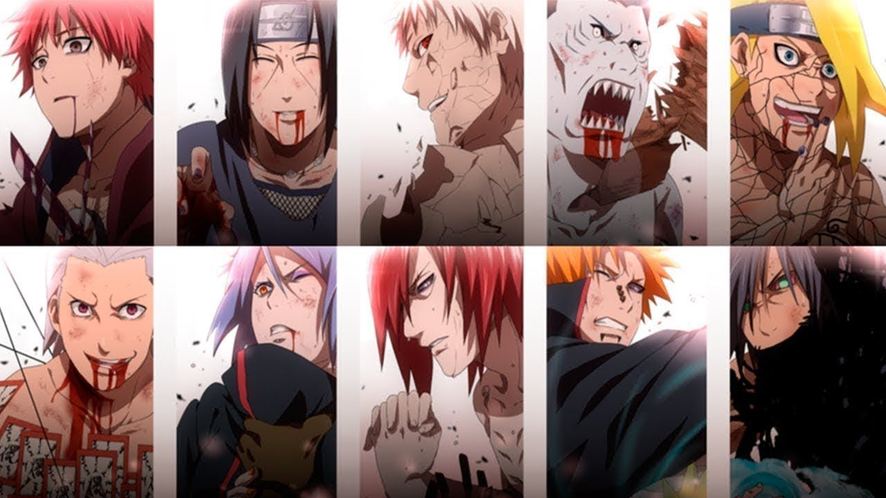 All Deaths Akatsuki Members 2019 For All Countries Eliminated Video Youtube Akatsuki Naruto Membros Da Akatsuki