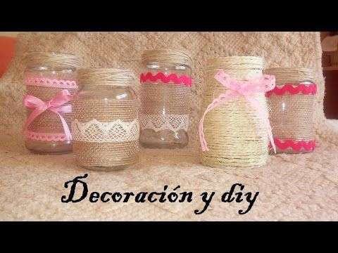 diy tuto decorar tarros de vidrio reciclados mara stuv youtube