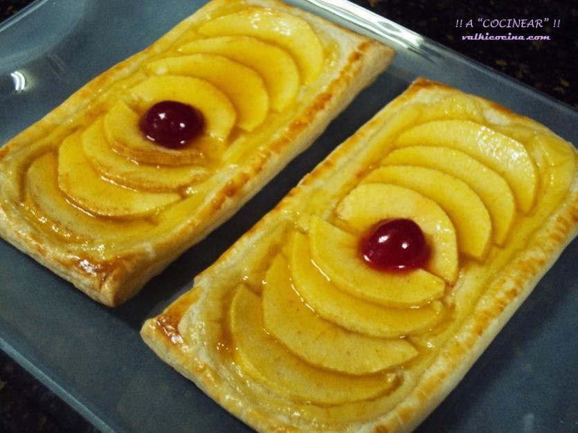 Receta de Hojaldres de manzana | Eureka Recetas