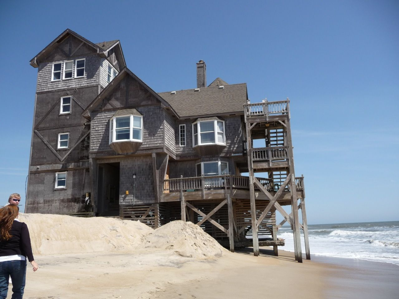 """House from the film, """"Nights in Rodanthe"""" in Rodanthe"""