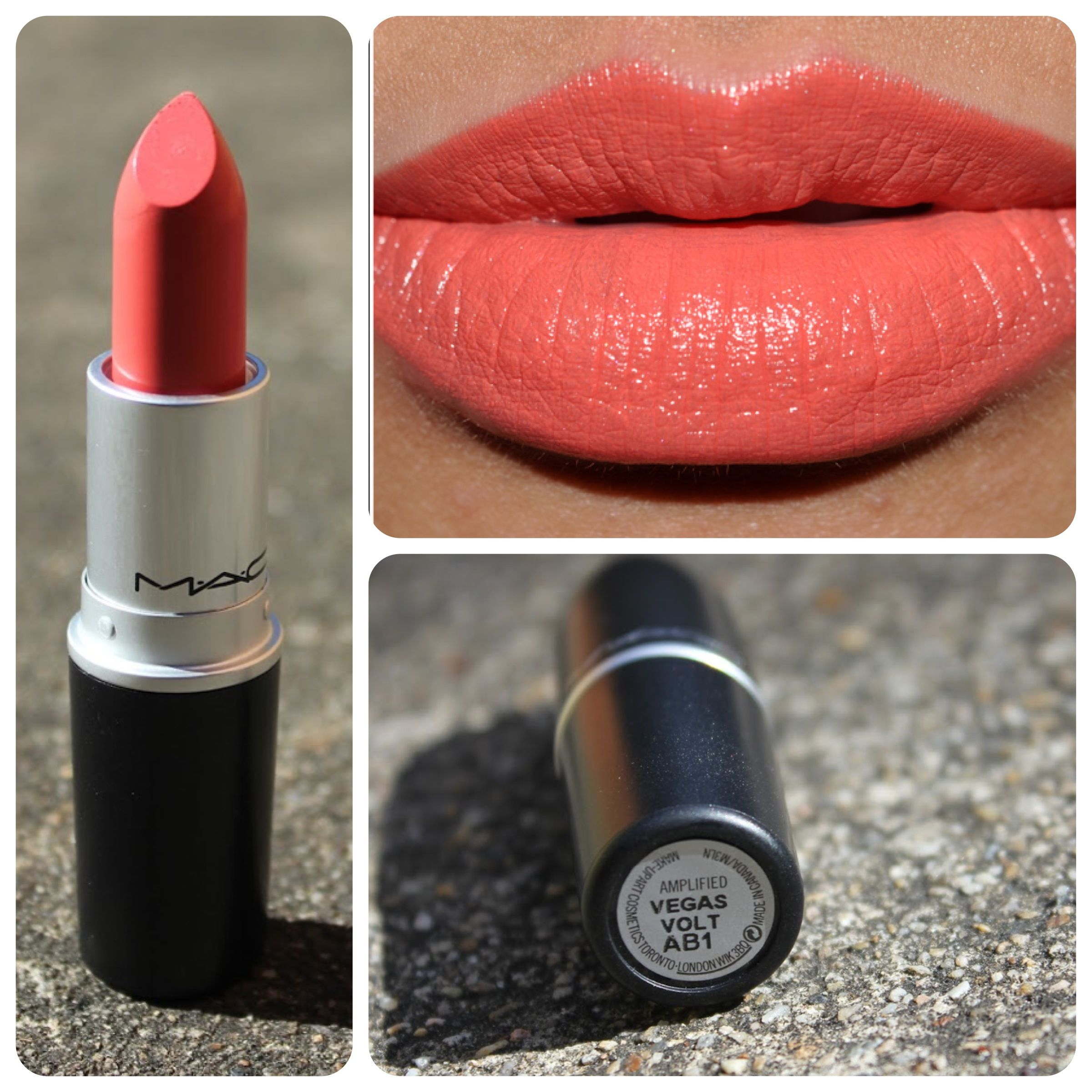 Mac lipstick colors: i want lady danger and vegas volt (With