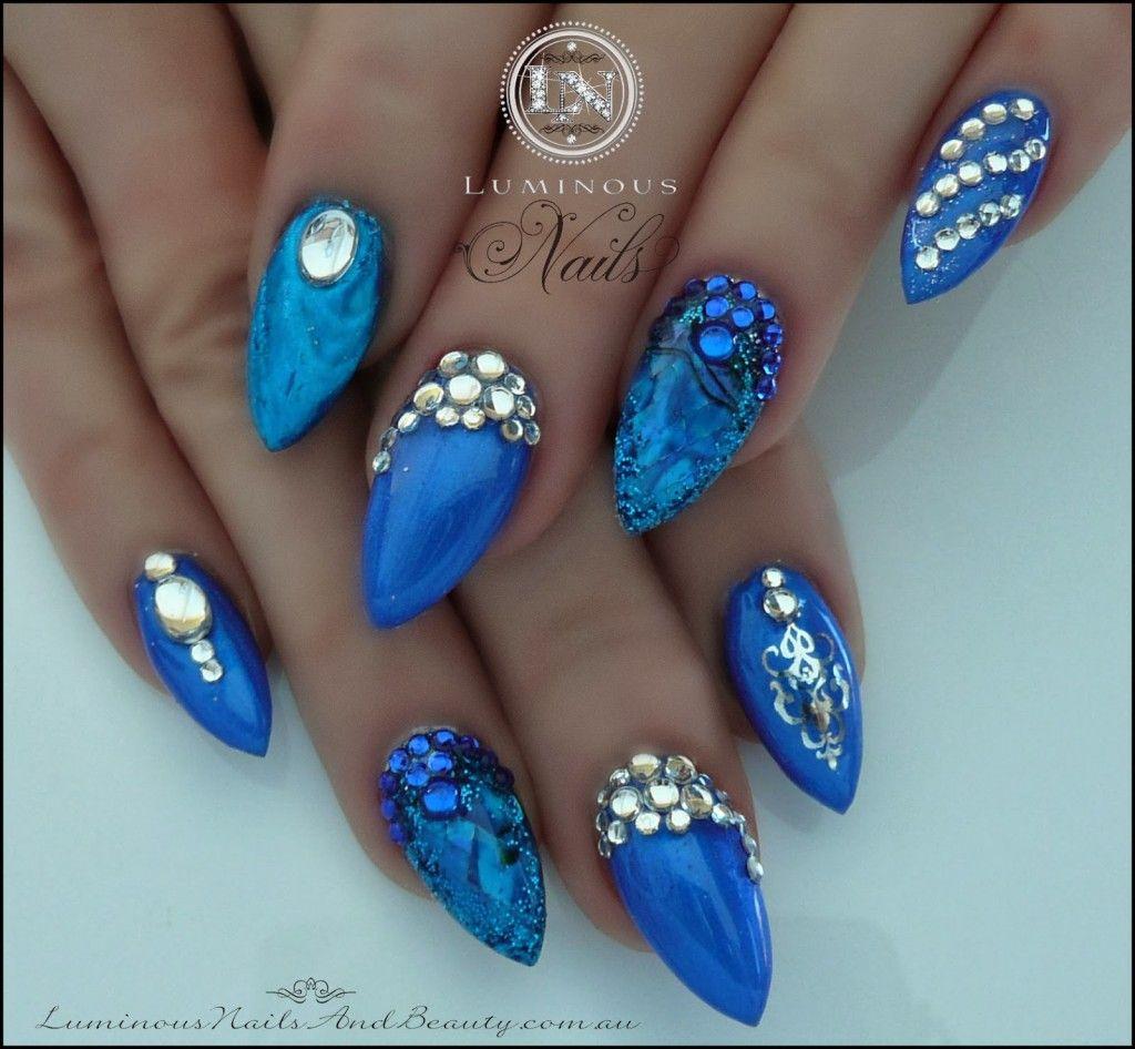 Royal Blue Nail Art - Nail Art Ideas | nail art | Pinterest | Royal ...