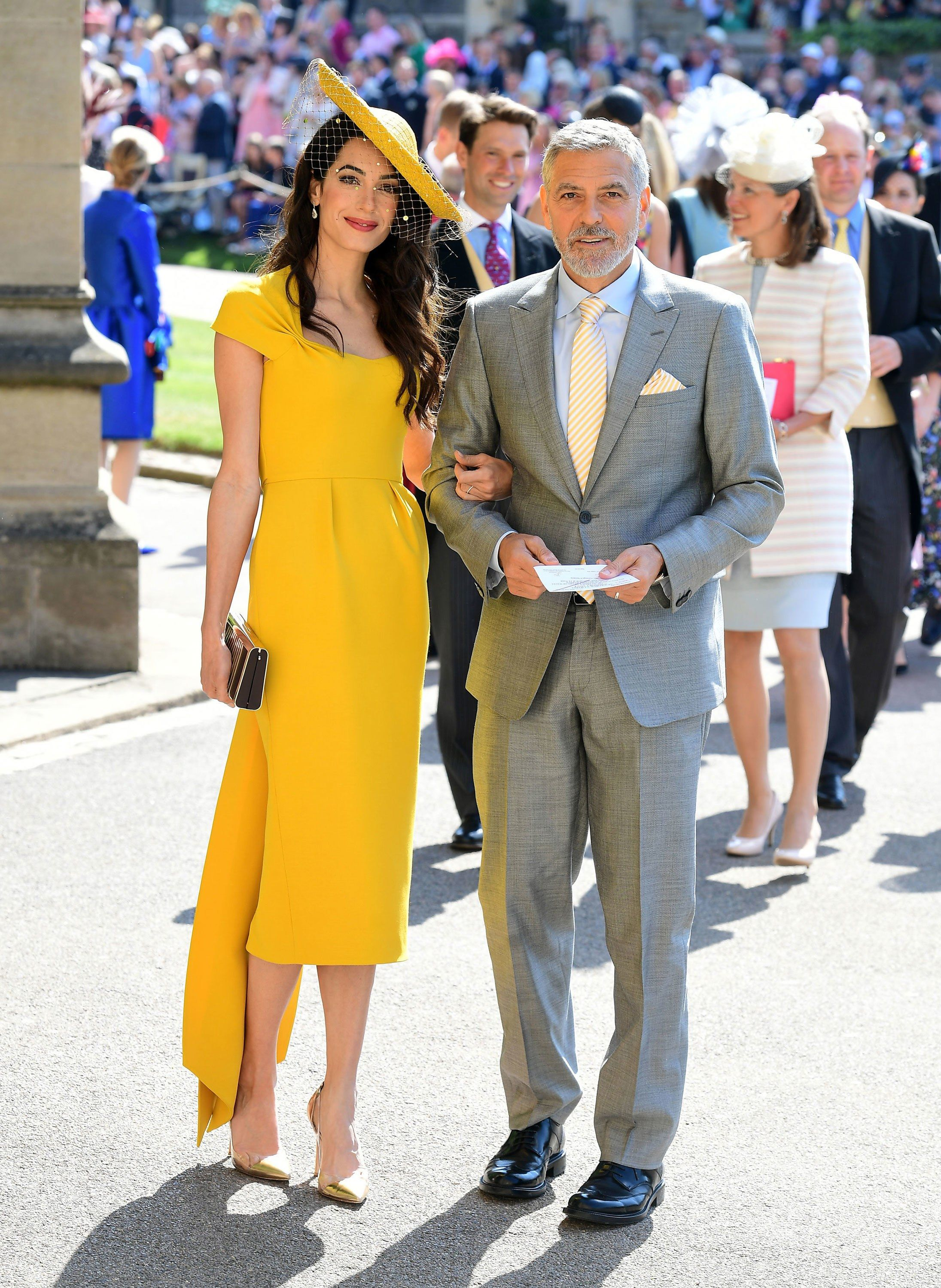 cc6bc2fb620f Amal Clooney in custom Stella McCartney, Lorraine Schwartz jewelry and  Gianvito Rossi shoes and George Clooney