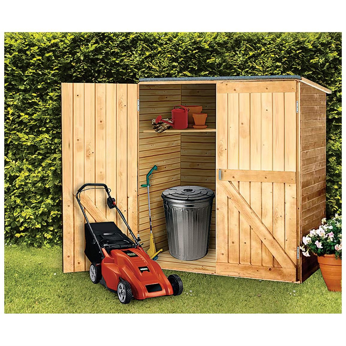 Build your own diy backyard organizers backyard storage