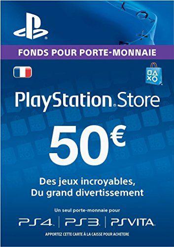 Carte Playstation Network 50 EUR [Code Jeu PSN PS4, PS3, PS