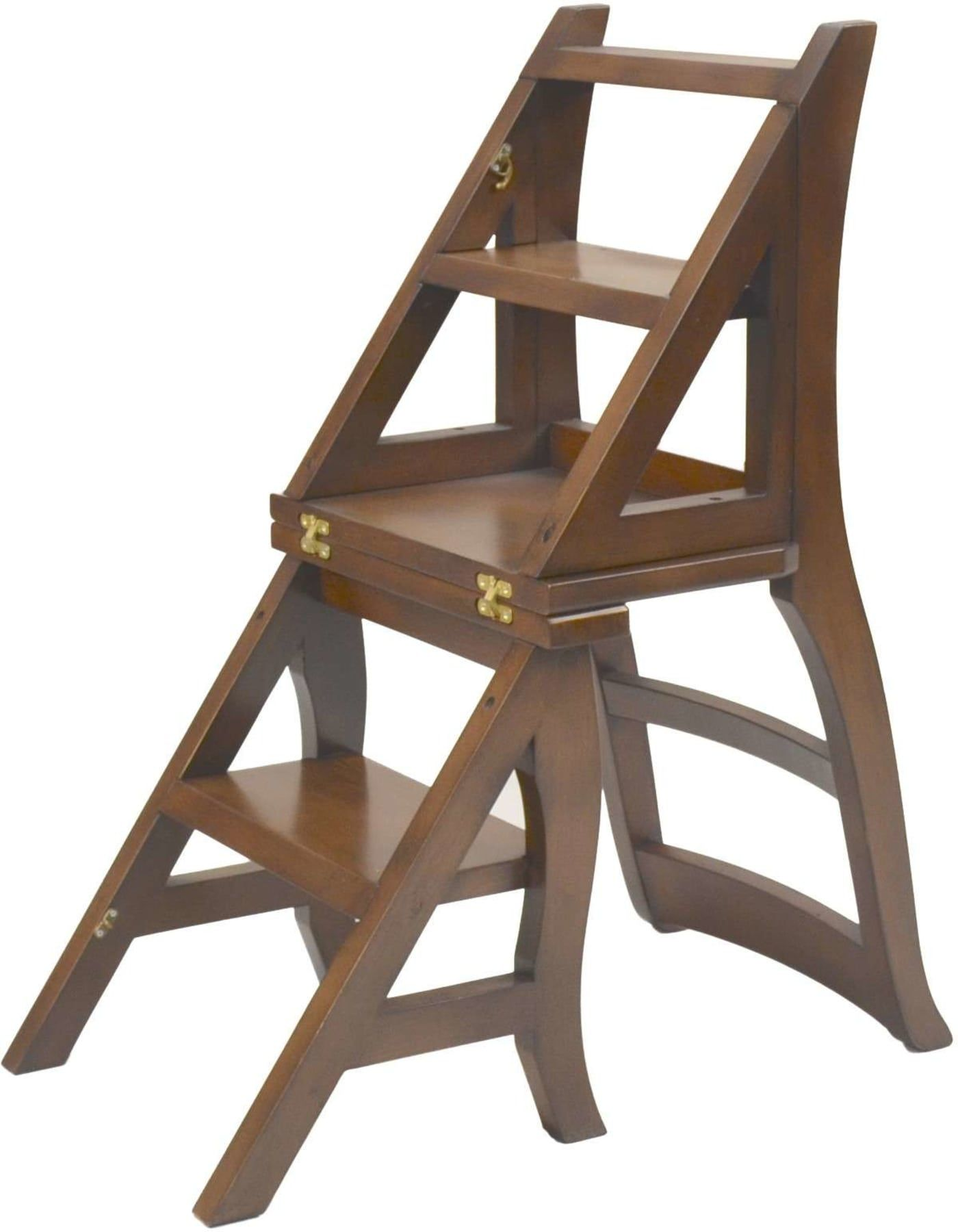 Carolina Chair Table Chestnut Folding Library Ladder Chair 1617 Nc Goedekers Com Ladder Chair Chair Wood Chair