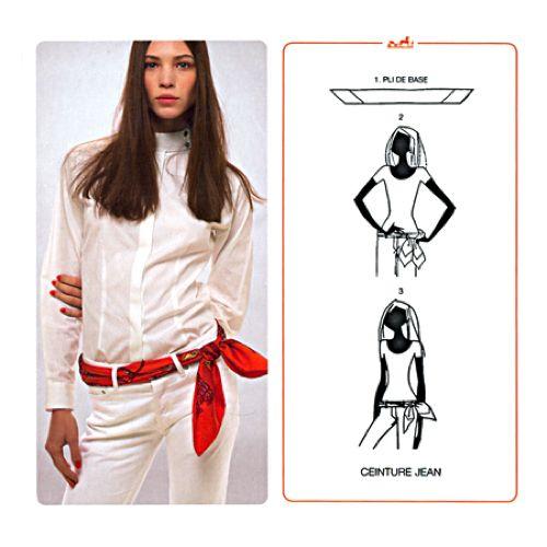 Risultati immagini per hermes foulard come indossare   Indossare ... f37a4fd3010