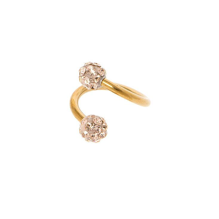 16G Gold Fireball Swirl Tragus Earring Jewelry Pinterest