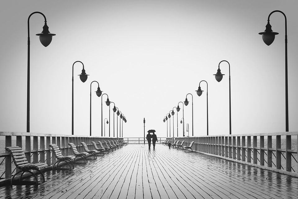Paseo Marítimo, El Amor, Hombre, Mujer, Mar, Muelle
