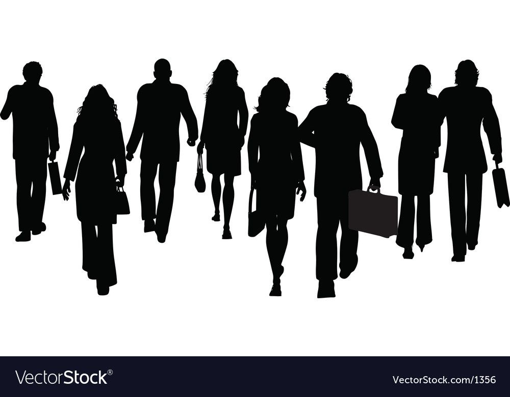 Business People Walking Away Royalty Free Vector Image Aff