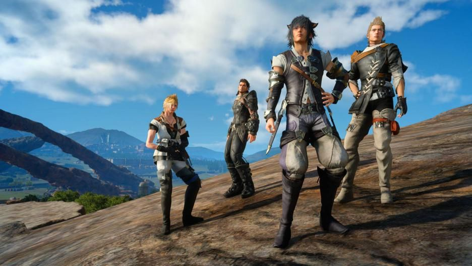The Chocobros in gear from Final Fantasy XIV for the