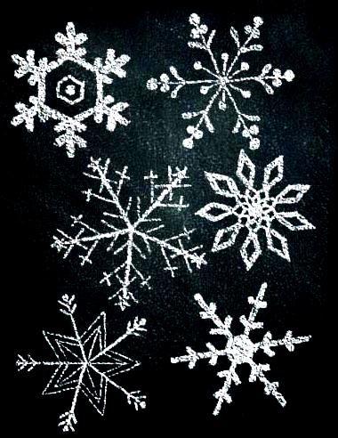 #Winter Snowflakes chalkboard art ToniKami ⊱CհαƖҜ ℒЇℕ℮⊰ By Katie Pertiet Exclusively at Designdigitals.com