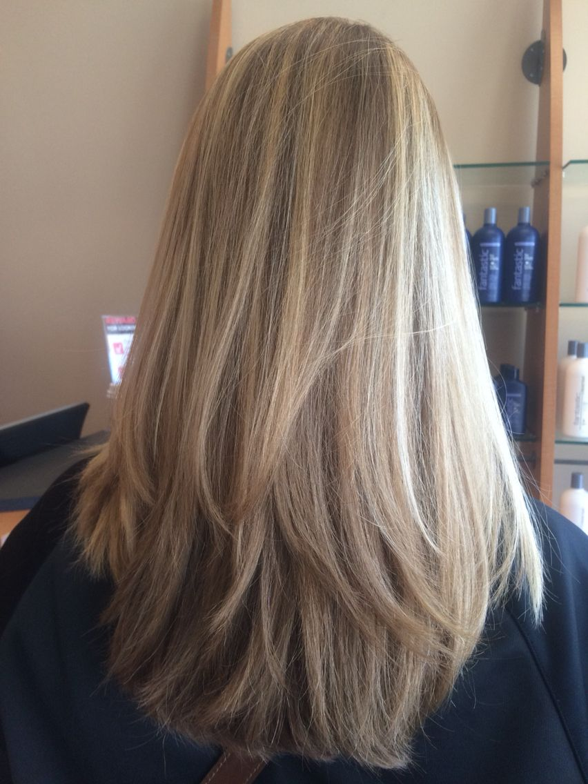 Butter Blonde Ombr With Medium Brown Highlights Hair Styles