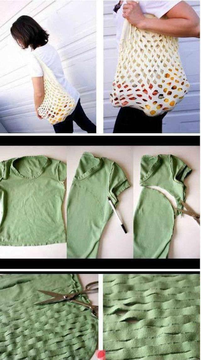 08a235e12d34c Formas sorprendentes de reciclar camisetas viejas o que han quedado  pequeñas.