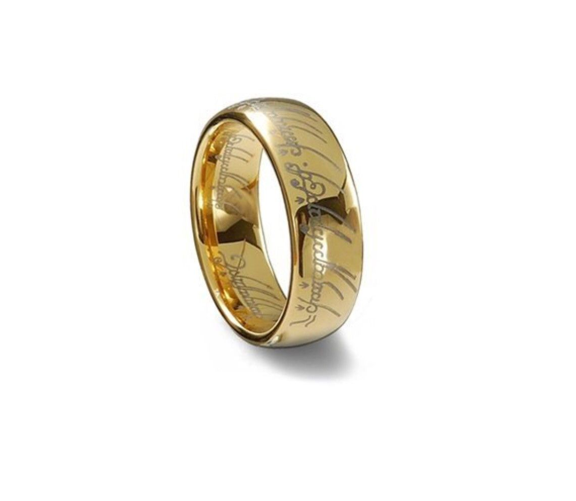 Lord Of The Rings Quot The One Quot Tungsten Ring In 2019 Rings