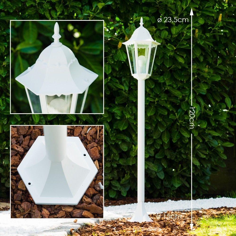 wege lampe wei garten aussen steh leuchte stehlampe laterne aluminium terrasse damaris. Black Bedroom Furniture Sets. Home Design Ideas
