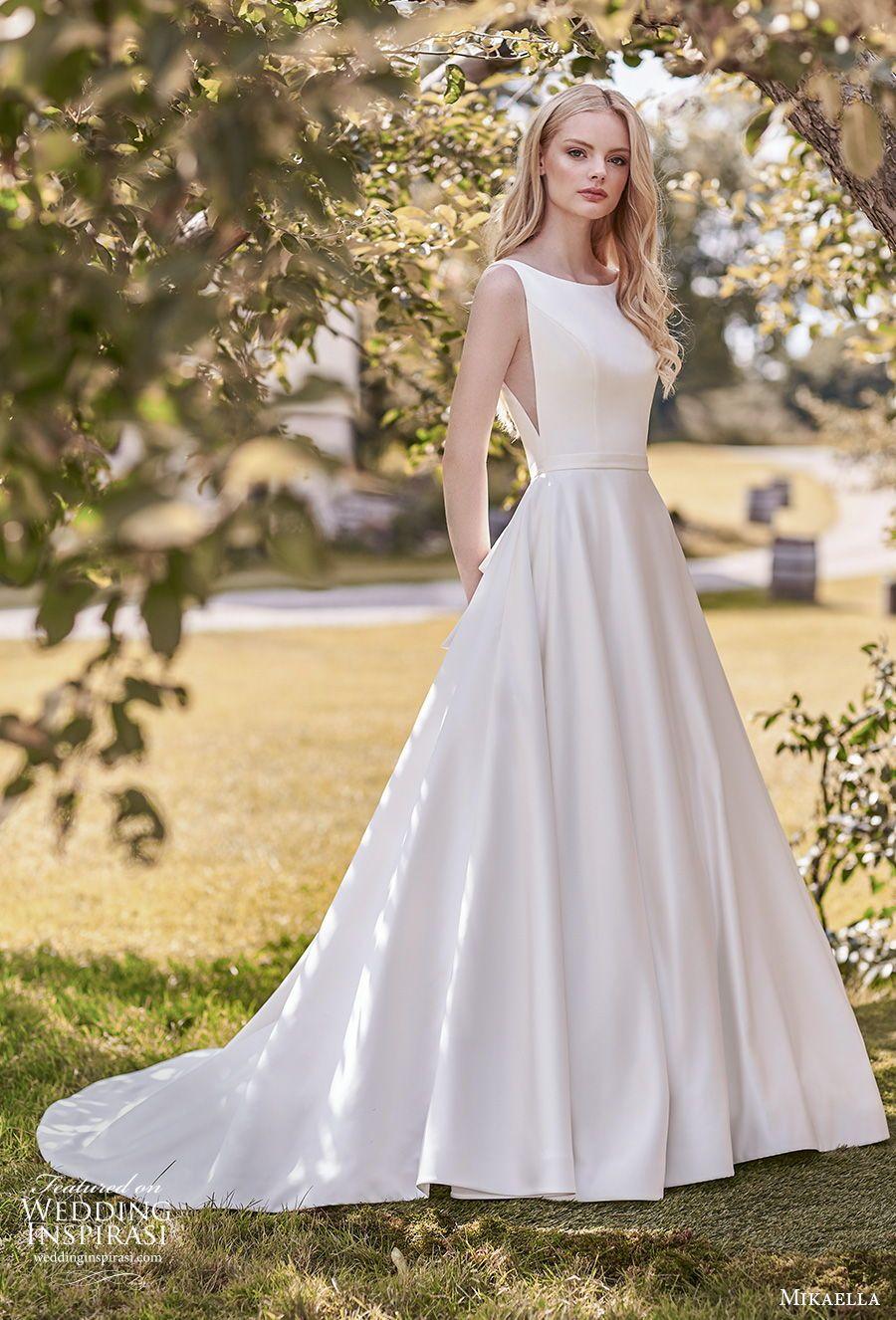 Mikaella Bridal Spring 2020 Wedding Dresses Wedding Inspirasi Mikaella Bridal Wedding Dress Styles Wedding Dress With Pockets [ 1326 x 900 Pixel ]