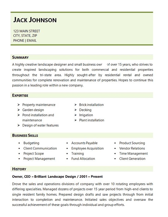 Resume Examples Landscaping Resume Examples Architect Resume Professional Resume Writing Service