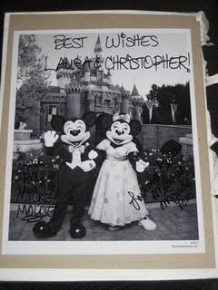 If you send Mickey and Minnie an invitation to your wedding, they'll send you and autographed photo! oh YES! 500 South Buena Vista Street Burbank, California 91521