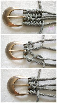 Macrame Derweesh Paracord Belt DIY Tutorial