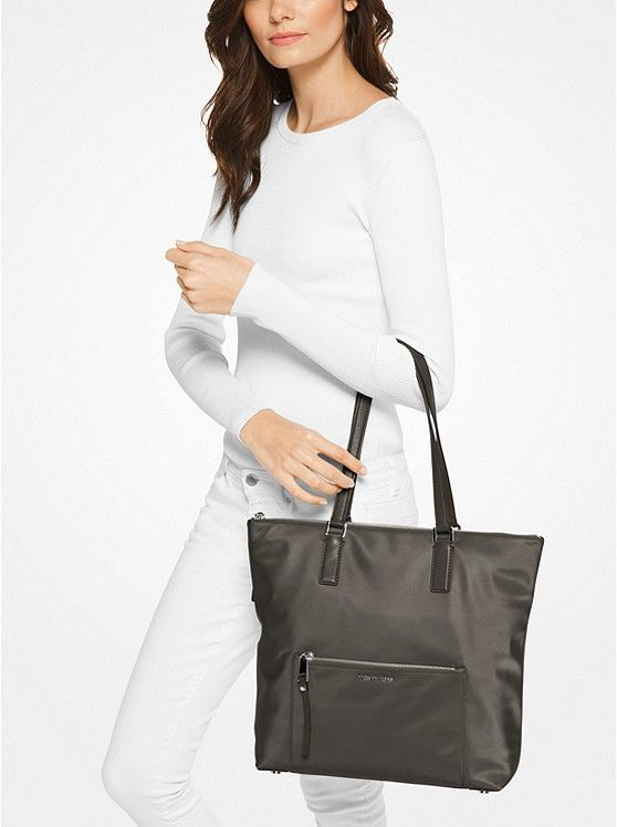 898efecca8df Ariana Large Nylon and Leather Tote   • imaginary closet •   Nylon ...